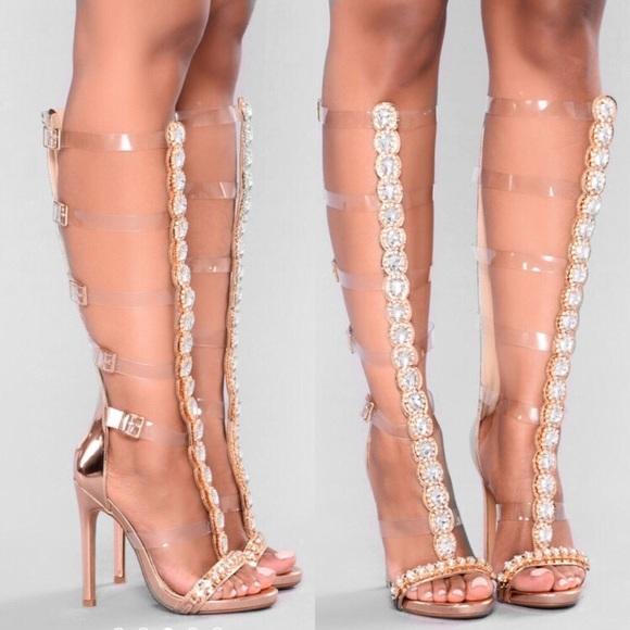 8a97a6a498bc Fashion Nova Shoes - 🌸Rhinestone Gladiator Heels🌸